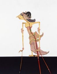 Shadow Puppet (Wayang Kulit) of Srikandi, from the set Kyai Drajat