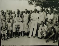 Midday meeting of Mozambiquan elders to discuss repatriation, Mozambiquan refugee camp, Nyamithuthu, Malawi
