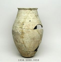 Large jar with three bands at neck