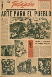 """""""El trabajador"""" ... noviembre 1959, n. 1:  Arte para el pueblo (The Worker ... November 1959, No. 1:  Art for the People)"""