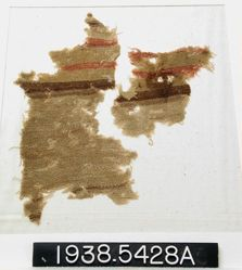 Fragment with brown and red band
