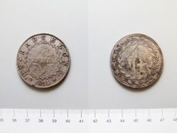 5 pesetas of the French Occupation of Spain from Barcelona