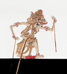 Shadow Puppet (Wayang Kulit) of Jembawan, from the consecrated set Kyai Nugroho