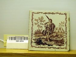 Tile from the Batchelder House, Beverly, Massachusetts