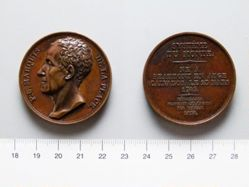 Bronze Medal from France Commemorating Marquis de la Place (1749-1827)