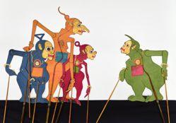 Shadow Puppet (Wayang Kulit) of Bagong, Tinkiwinki, or Tinky Winky