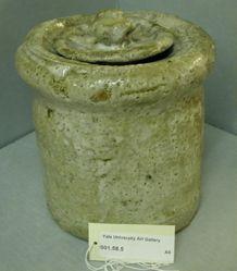 Fresh-Water Jar (Mizusashi) with Ash Glaze