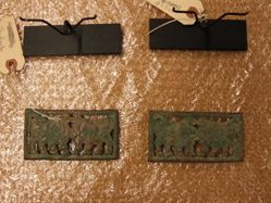 Pair of Belt plaques with Confronted Bovines