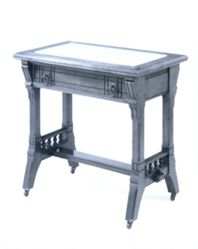 Marble-top Table with Drawer