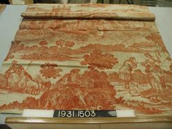Length of printed cotton, Pastoral Scenes with Barge