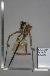Shadow Puppet (Wayang Kulit) of possibly Anolo, from the set Kyai Drajat