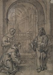 St. Francis of Paula Holding Live Coal in his Hands