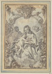 Madonna within Ornamental Frame