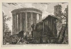 Veduta del tempio della Sibilla in Tivoli (View of the Temple of the Sibyl in Tivoli), from Vedute di Roma