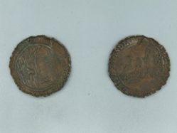 Coin from Spain of Phillip IV, Peace