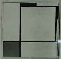 "Photograph of Piet Mondrian's ""Composition,"" 1929, oil [Guggenheim Museum] -- from Katherine S. Dreier's private collection"
