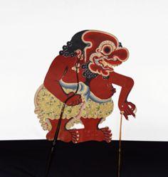 Shadow Puppet (Wayang Kulit) of Buto Penthul, from the consecrated set Kyai Nugroho