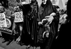 Donna Ferrato, Operation Rescue (Pro‑Birth Activists at Pro‑Choice Rally), Washington, D.C., from the series Holy