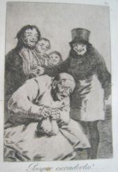 Porque escondidos? (Why Hide Them?), pl. 30 from the series Los caprichos