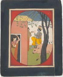 Krishna Talking to a Gopi