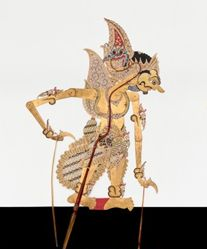 Shadow Puppet (Wayang Kulit) of Suyudana or Duryodana, from the consecrated set Kyai Nugroho