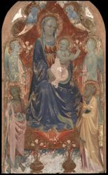 Virgin and Child with Saint John the Baptist, Saint Peter, and Two Angels.