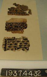 Fragment of slit tapestry.