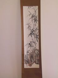 Bamboo, Orchid, and Rock