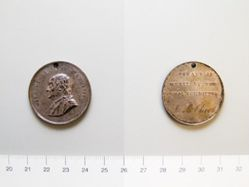 Boston Schools award medal of Benjamin Franklin
