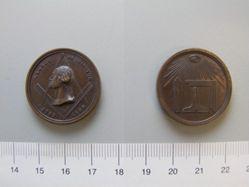 Masonic medal of George Washington commemorating the centennial of his inauguration