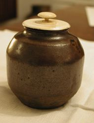 Hizen Maru Tea Caddy (Cha-Ire) with Ivory Lid