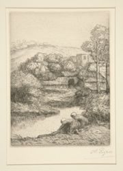 Le lavoir, or Les laveuses (Washhouse, or Washerwomen)