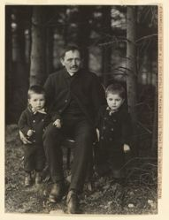 Peasant from Nistertal in the Western Woods with His Grandsons