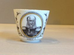 William I, King of Prussia cup and saucer