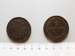 2 Baiocchi of Pope Pius IX from Rome