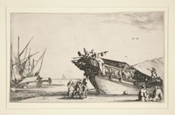 Harbor Scene from a series of eight Marines, Dev. 813
