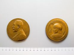 Medal in Honor of Ernest Babelon for the 1910 International Numismatic Congress in Brussels