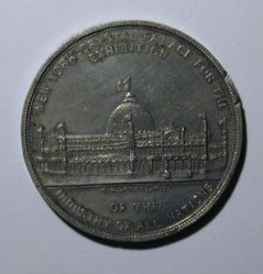 Medal of the 1853 Exhibition of Industry of All Nations, Crystal Palace