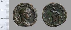 Sestertius of Trajan Decius, Emperor of Rome from Rome