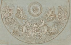 Design for an Apse with Franciscan Friars and Groups of Angels