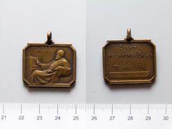Bronze Plaquette from Belgium of the Société Hollandaise-Belge des Amis de la Médaille d'Art