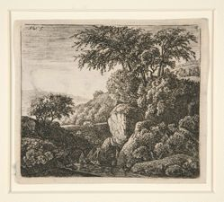 The Small Waterfall, from a set of 4 etchings, B. 3-6