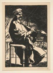 L'Empereur Guillaume sur son yacht (Kaiser Wilhelm on His Yacht), from La Guerre de 1914, first series, no.18