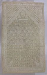Small prayer panel of embroidered plain cloth