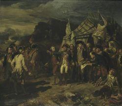Generals Washington and Rochambeau before Yorktown