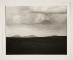 View of the Siebengebirge from the Westerwald, from the portfolio Rhineland Landscapes by August Sander