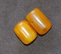 Two Amber Beads