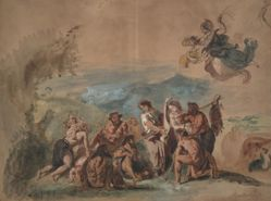 Orpheus Bringing Civilization to the Barbarian Ancestors of the Greeks