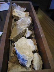 Box of sculpture fragments