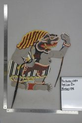 Shadow Puppet (Wayang Kulit) of an Ogre, from the set Kyai Drajat
